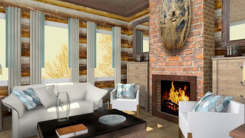 Wooden room 485sunrise - Rustic - Living room - by bisertanya