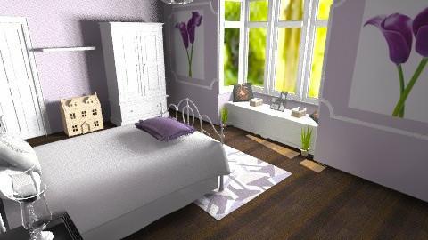 Purple - Feminine - Bedroom - by Leigha Kay