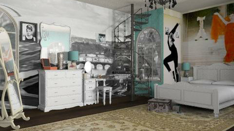 Funny Face inspired - Glamour - Bedroom  - by HazelMP