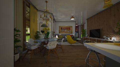 Two Rooms - Modern - Living room - by Maria Helena_215
