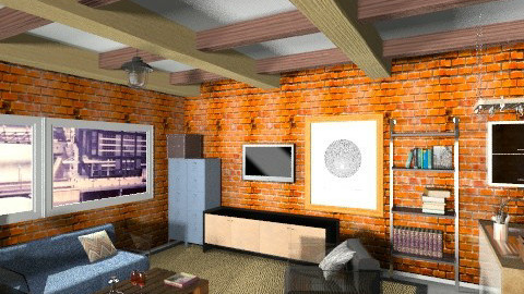 Industrial loft - Eclectic - Living room - by Marxipan
