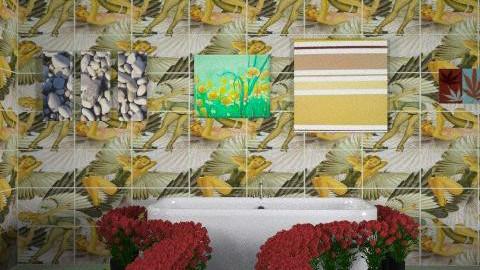 green bath - Glamour - Bathroom  - by carmen00