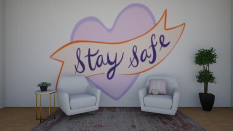 Stay Safe Everyone - Living room  - by chocolatedonut71