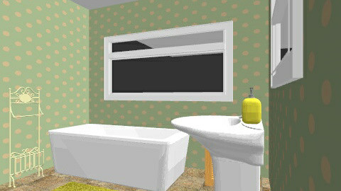 70s bathroom - Retro - Bathroom  - by eleanorkk