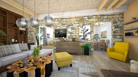 Brown - Living room  - by NATALIAWADRANSKA