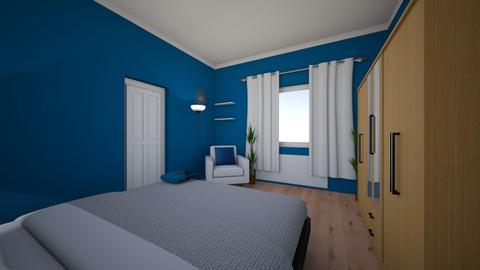 Blue bedroom  - Minimal - Bedroom  - by Teszugi