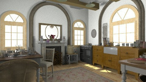 country style - Country - Kitchen  - by sophiesweetie8
