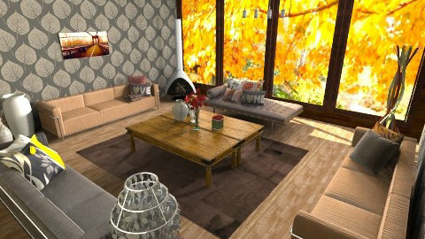 concurso - Rustic - Living room  - by aguss