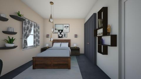 student bed - Retro - Bedroom  - by Jacqueline De la Guia