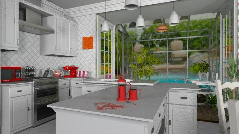 T island - Modern - Kitchen  - by Bibiche