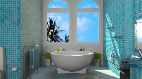 blue - Modern - Bathroom  - by Aliya Al