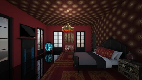 Guest bedroom 2 - Eclectic - Bedroom  - by kitty