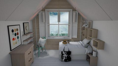 Tiny - Minimal - Bedroom  - by evabarrett