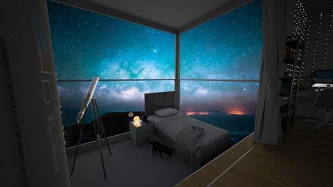 night sky bedroom - Bedroom  - by tiny lany