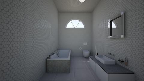 Bathroom hexagonal tiling - Modern - by ROOMRENOVATER