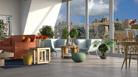 Orange Blue - Living room  - by ZuzanaDesign