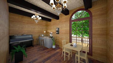 Mini Coffee Shop - Rustic - Dining room  - by sophie_sully