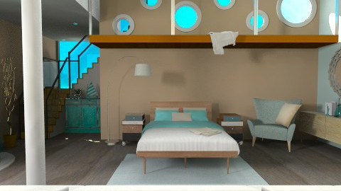Flying in a blue dream - Eclectic - Bedroom  - by Laurika