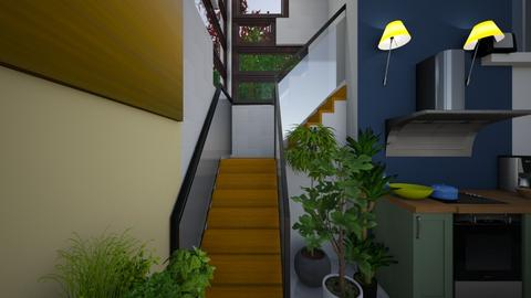 Impressive staircase - Kitchen  - by kristenaK