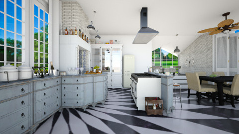 Open - Eclectic - Kitchen  - by Laurika
