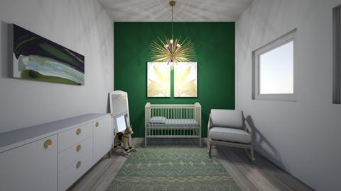 unisex green room - Kids room  - by nataesquenazi