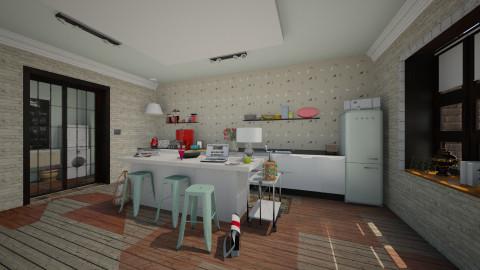 Modern Retro Kitchen - Eclectic - Kitchen  - by katarina_petakovi