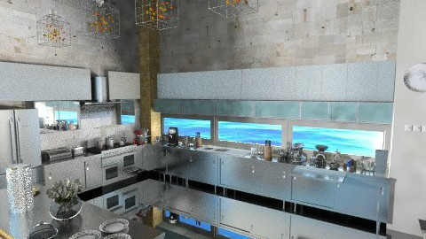 Stone and Steel Luxurious - Kitchen  - by ladyfakessi