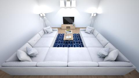 White Navy Oak - Modern - Living room  - by LeoTheLop