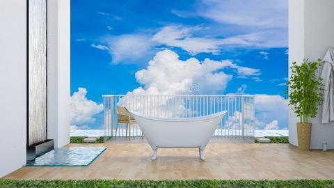 Beach vibes - Bathroom  - by matildabeast