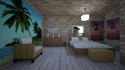 beach stone  - Bedroom - by awood23