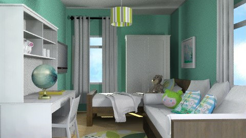 Sharminet Kids/Guest Room - Eclectic - Bedroom  - by channing4