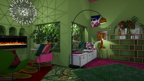 Bright Living Room - Retro - Living room  - by HIHELLOHI