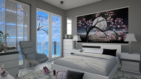 Blossom room - Modern - Bedroom - by inataliepaige