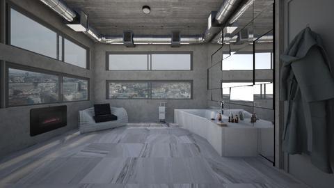 Paris loft Bathroom Vu 1 - Modern - Bathroom  - by kitty