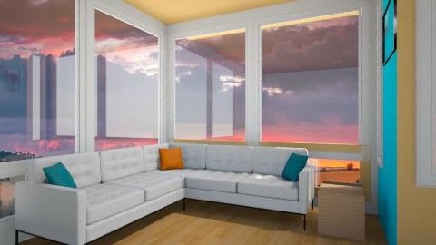 orange and blue - Modern - Living room - by SnofflesMcwaffles