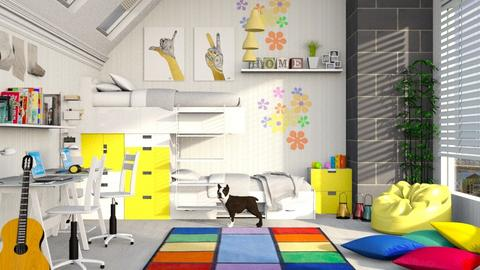Bunk bed Room - Bedroom - by bigmama14