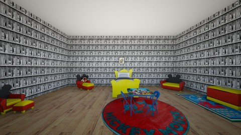 Mickey Mouse Bedroom - Kids room - by Anonymus