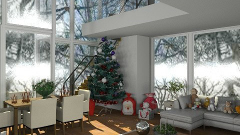 White Christmas - Eclectic - Living room  - by camilla_saurus