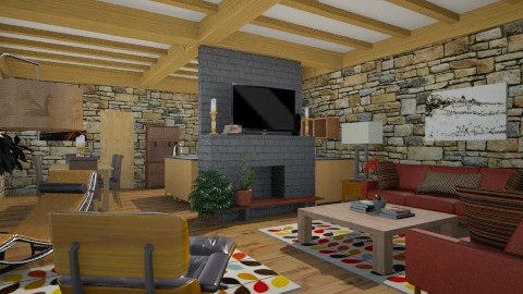 living room 1 - Masculine - Living room  - by russ
