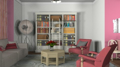 Bookcase Room - Classic - Living room - by toadfool