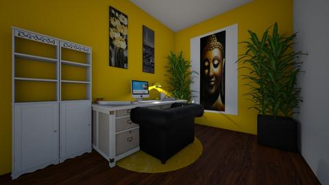 Yellow work from home - Office  - by BTSfangirl