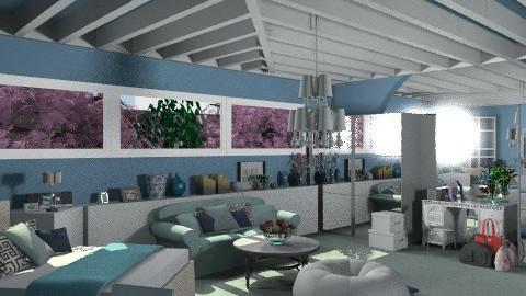Blue sky - Modern - Bedroom - by KittiFarkas