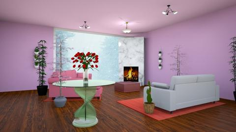 Snow_stormy day - Living room  - by Jahsoftball_