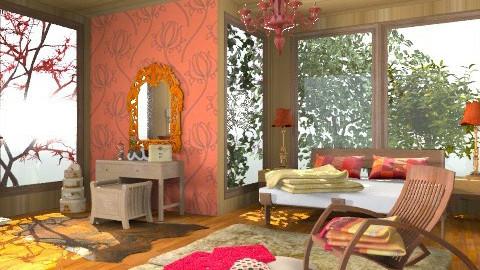 Rustic Bedroom - Rustic - Bedroom  - by Taylor3411
