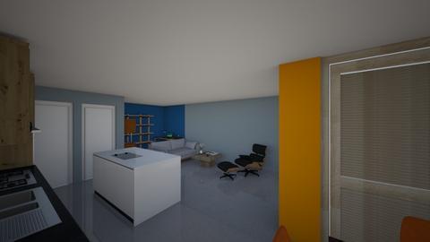 L shape kitchen office - Kitchen  - by Roddamiser