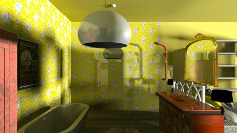 Indie Retro Bathroom 2 - Retro - Bathroom  - by tillsa98