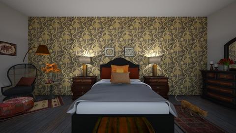 Indian theme bedroom - Bedroom  - by Foleyburns10