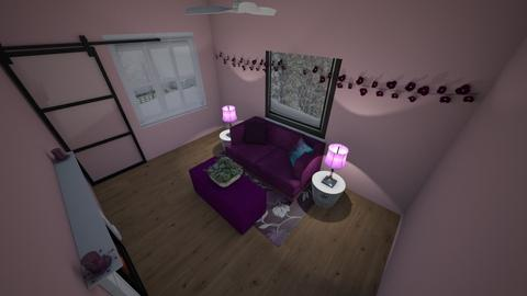 Pink and Purple - Modern - Living room  - by AbigailTrice34