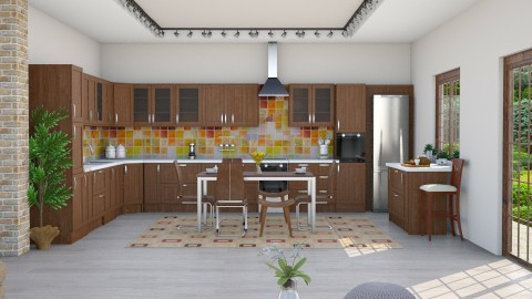 M_Walnut kitchen - Kitchen  - by milyca8