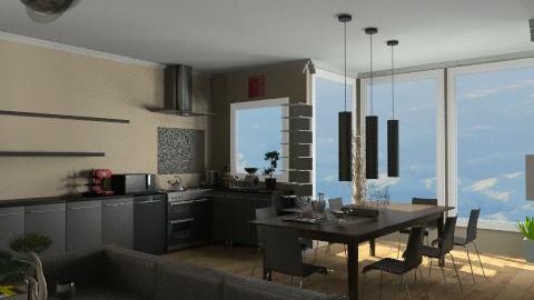brown - Classic - Kitchen  - by pyksio
